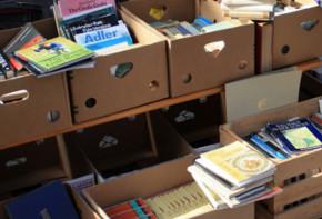 Bücher auf dem Flohmarkt