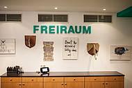 """Kreative Wanddekoration im Meeting & Eventraum """"Freiraum"""" im Hotel Allgegra"""