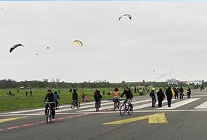 Freizeit auf dem Tempelhofer Feld Berlin