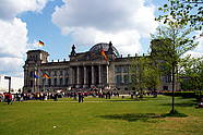 Reichstag building in Berlin's government district