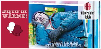 Spenden Sie Wärme - sichern Sie einem Obdachlosen eine Übernachtung!