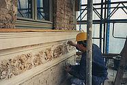 Stuckarbeiten an der Fassade